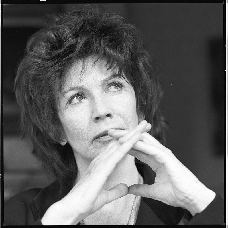 Edna O'Brien, novelist, from the John J. Burns Bobbie Hanvey Photographic Archives Collection