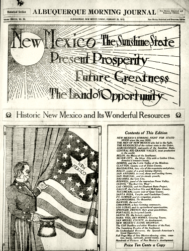 "Historical paper article from the ""Albuquerque Morning Journal"""