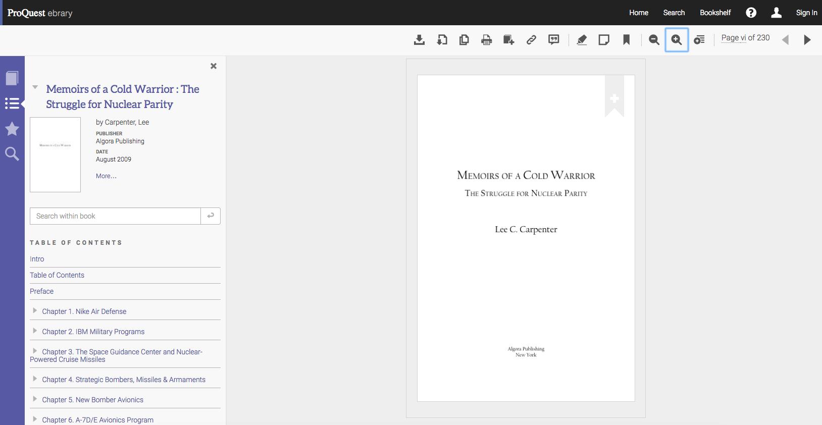 Screenshot of an e-book accessed through Ebook Central
