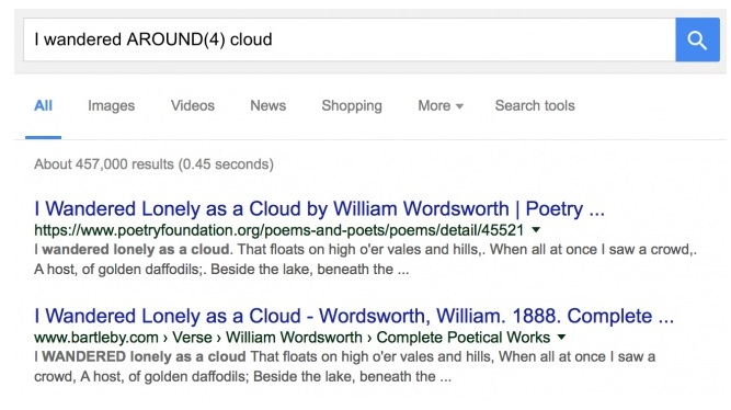 Searching When Lots of Words Are Missing - Google Advanced