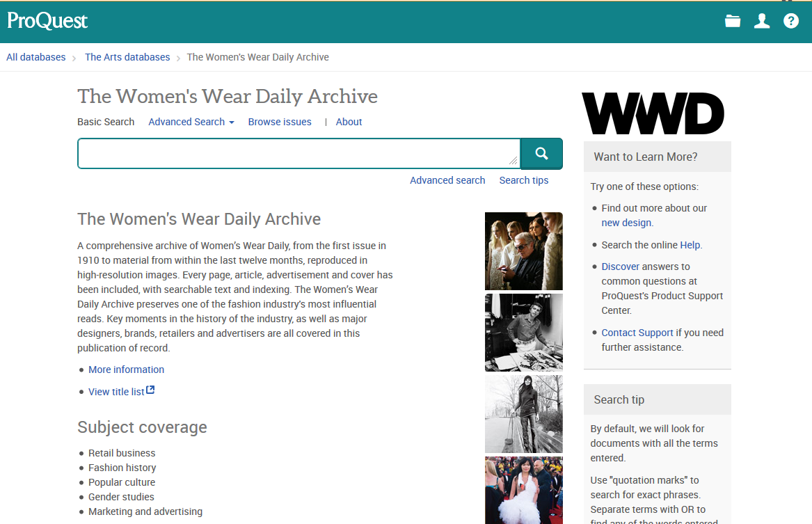 Women's Wear Daily homepage