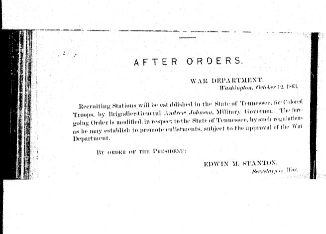 Sample Content:  after orders from the War Department