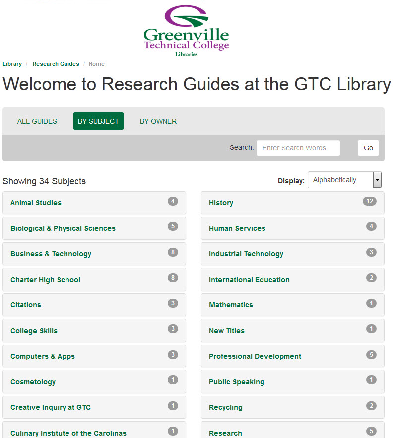 GTC Research Guides