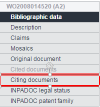 Espacenet bibliographic data