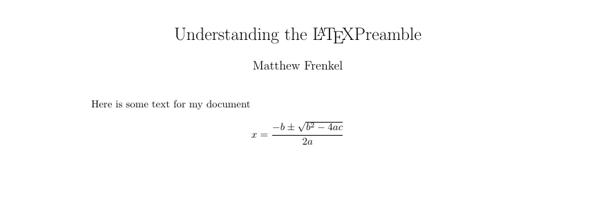 Creating a document - Getting Started with LaTeX - Research