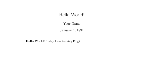 Image of text showing a document title, author name, date, and brief text.