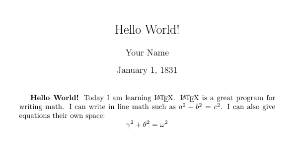 Image of a document with title, author, date, and text including math.