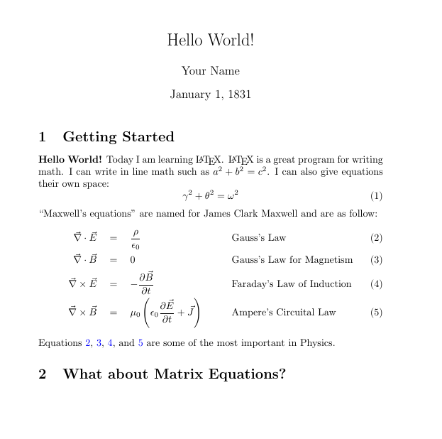 Exercises - Getting Started with LaTeX - Research Guides at New York