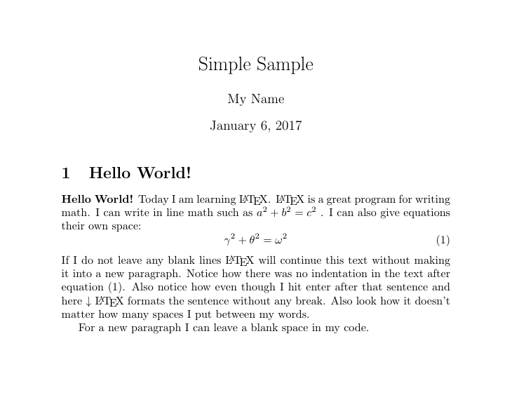 Image of the PDF produced by the code available at the bottom of this page