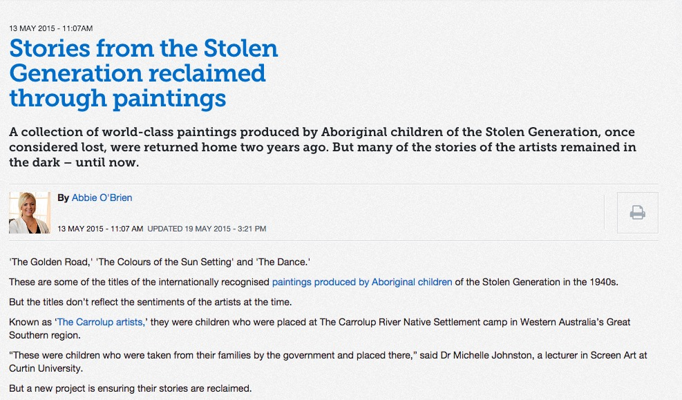 year ten history on the move rights and dom  stolen generation in the arts