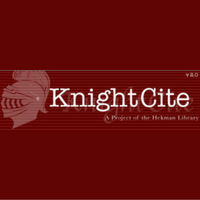 KnightCite is one of the online citation guides provided by the library