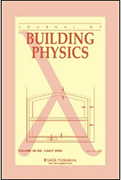 The cover of: Journal of Building Physics