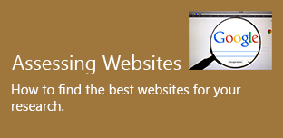 assessing websites. How to find the best websites for your research.