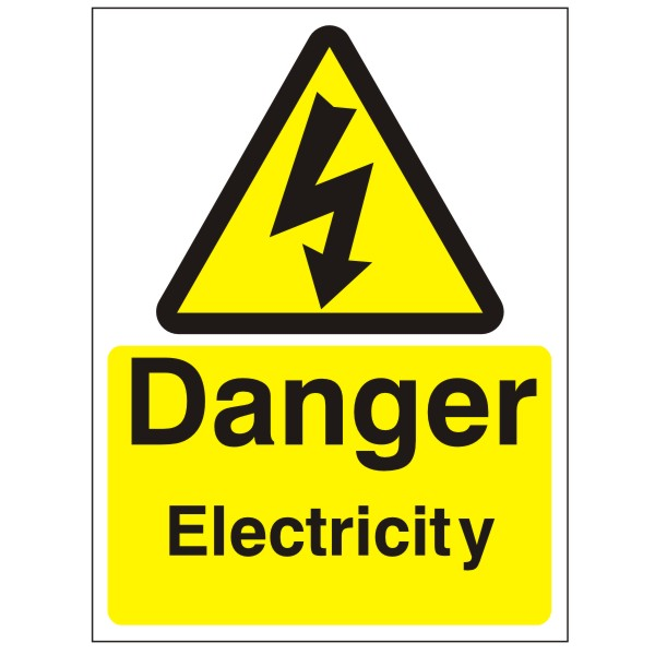 Warning sign - danger electricity