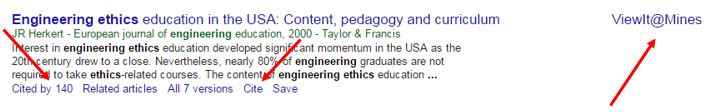 Google Scholar citation example
