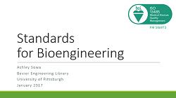Standards - BioEngineering 1161 - Bioengineering Design
