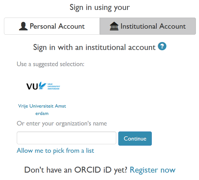 1 Register Your Orcid And Connect With Pure Establishing