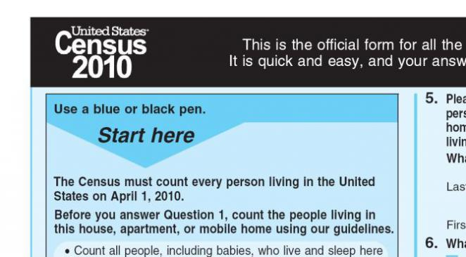 Census 2010 front page