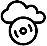 Cloud and optical storage CC-BY ProSymbols for the Noun Project