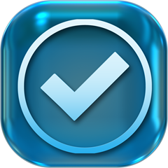 blue check mark icon