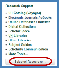 Click on the Selected Resources button to get a pop up window