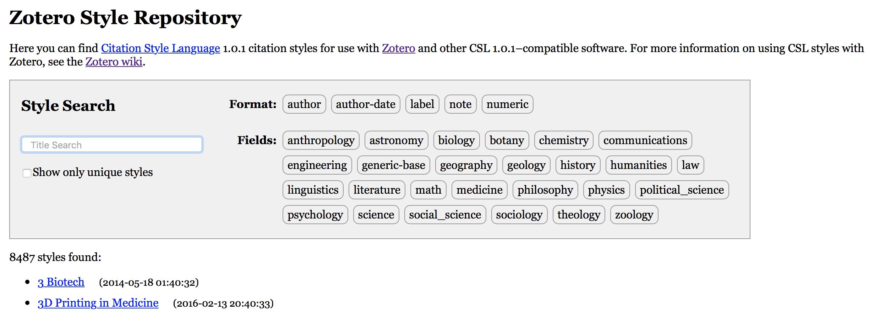zotero annotated bibliography apa