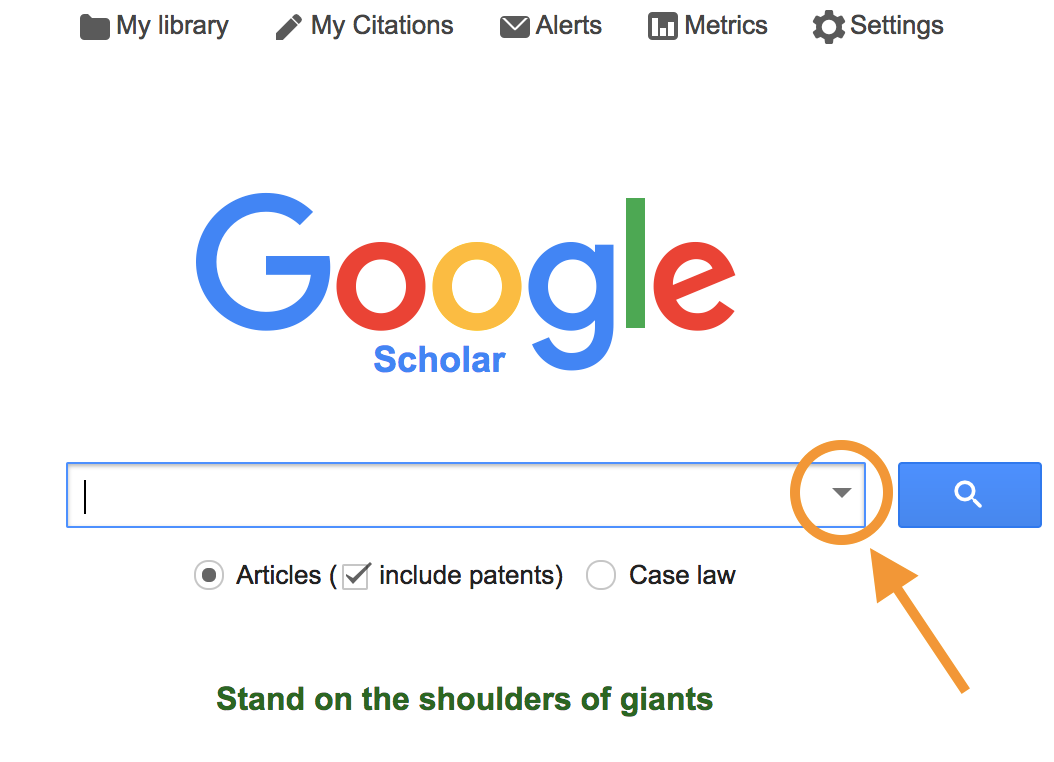 Advanced Google Scholar Eng110 Schaaf Library Guides At Uw La