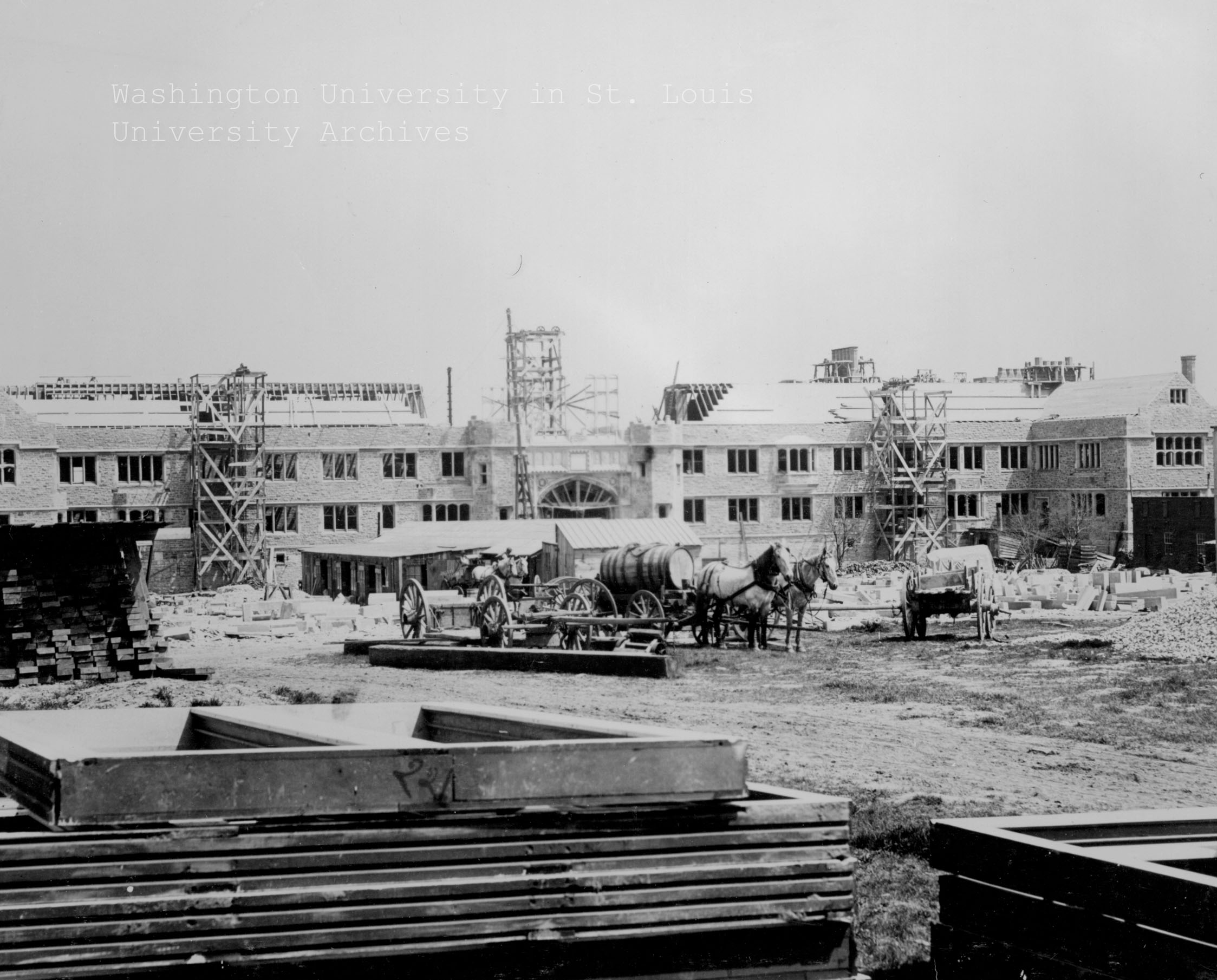 Brookings Hall under construction
