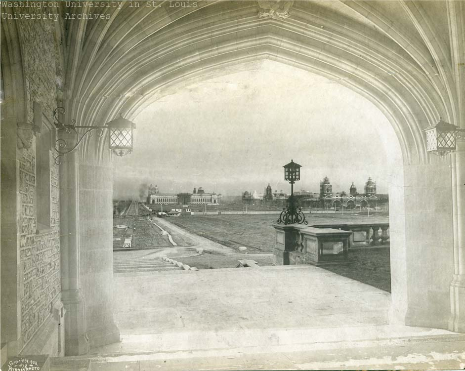 View of Fair Grounds from Brookings Archway