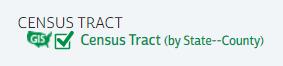 Census Tract option