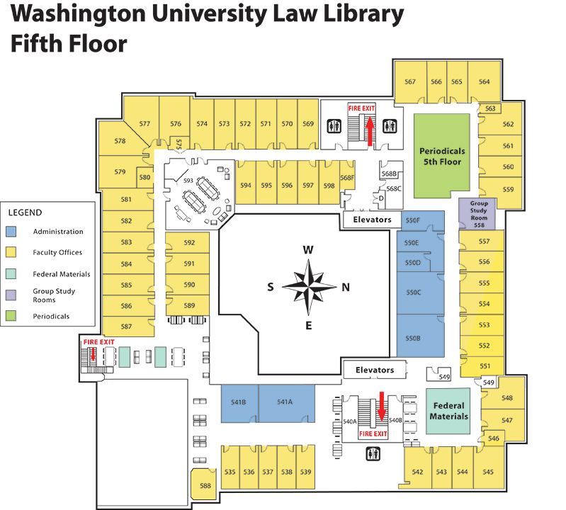 Fifth Floor Library Map