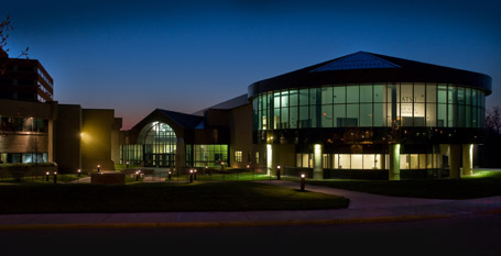 Missouri Library Branch at Night