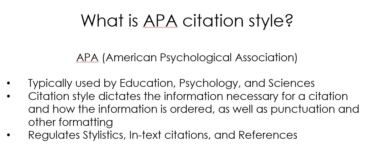 APA Style Citation Styles LibGuides At Cossatot Community