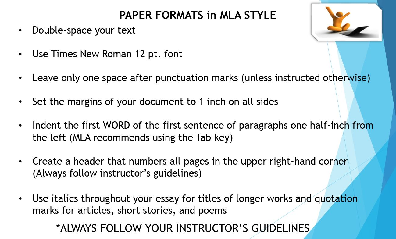 what margin settings are used for mla format