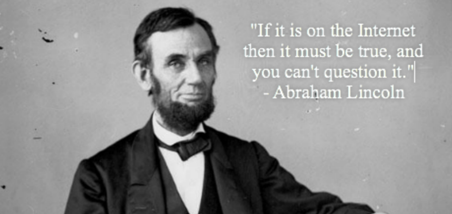 Fake Abraham Lincoln quote