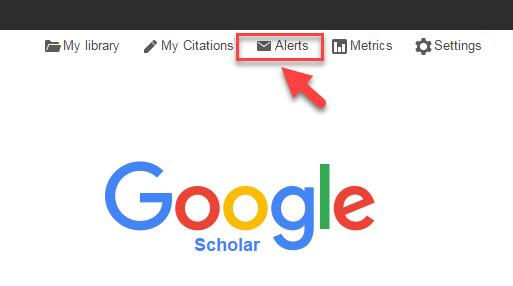 Google scholar journal and search alerts save time on research creating alerts in google scholar stopboris Choice Image