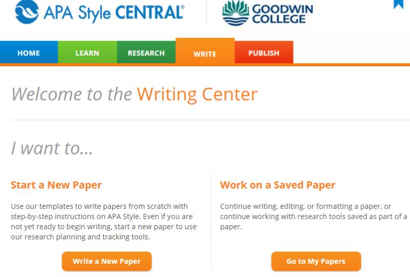 how to write apa paper