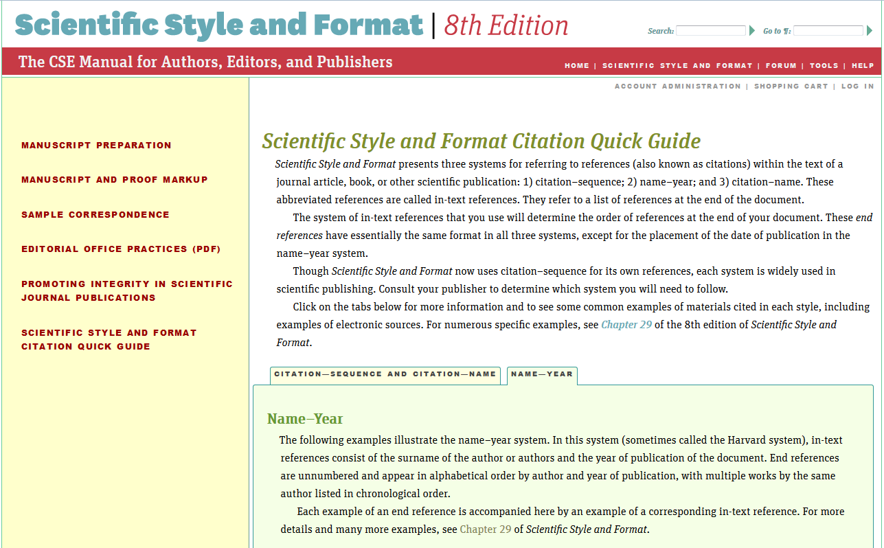 cse works cited page