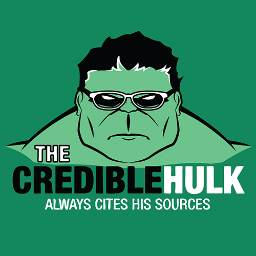 The Credible Hulk always cites his sources.