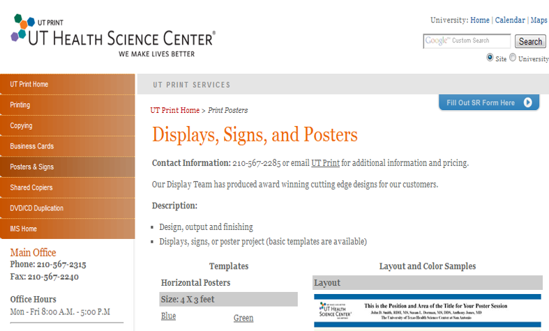 planning poster presentations libguides at university of texas