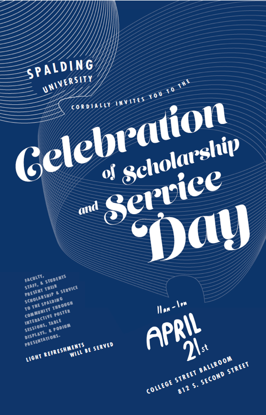 Celebration of Scholarship and Service poster