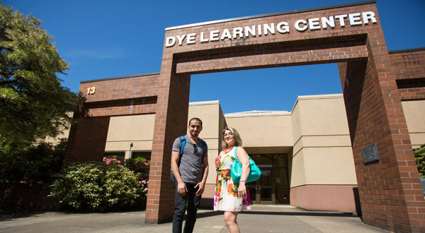 Entrance to the Dye Learning Center