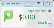 Add printing funds to papercut.com