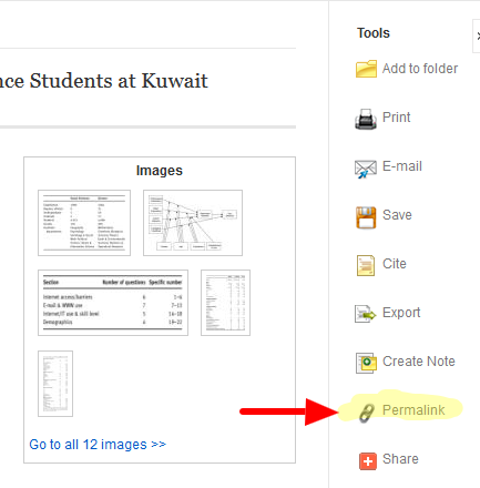 Articles - Linking to Library (Subscription) E-Resources