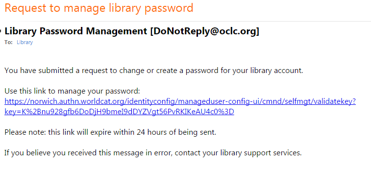 library account password management email image