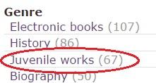 limit to genre juvenile works
