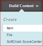 Blackboard Create Item screenshot