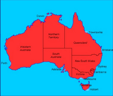 australia is a federal jurisdiction with six states two commonwealth territories northern territory and australian capitol territory and three external