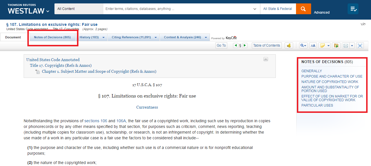 Annotated Statutes - Case Law Research - LibGuides at Indiana Tech ...