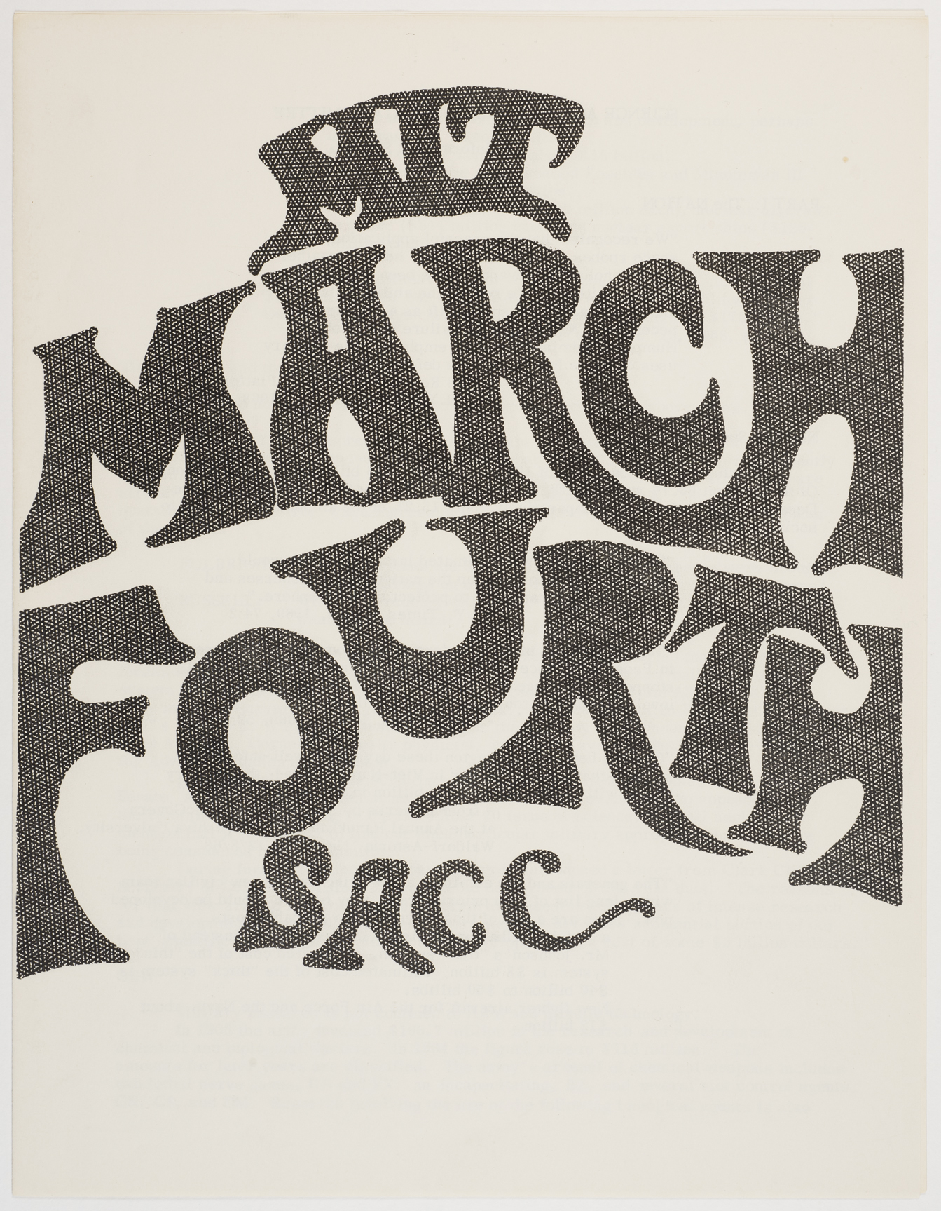 MIT March Fourth SACC, 1969, AC-0349, Box 1.